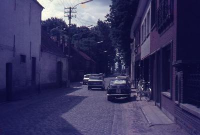De Nazarethse 's Gravenstraat richting Steenweg Deinze voor de verbreding