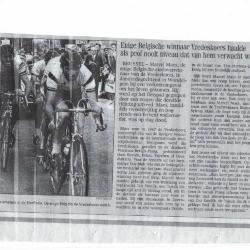 Krantenartikel n.a.v. de dood van Marcel Maes