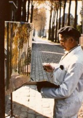 Georges Dheedene vereeuwigt de Zultse Kasteeldreef (huidige Limnanderdreef)
