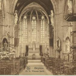 Het interieur van de Deinse Onze-Lieve-Vrouwekerk
