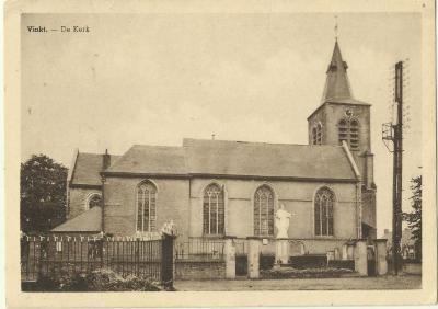De buitenzijde van de Vinktse parochiekerk