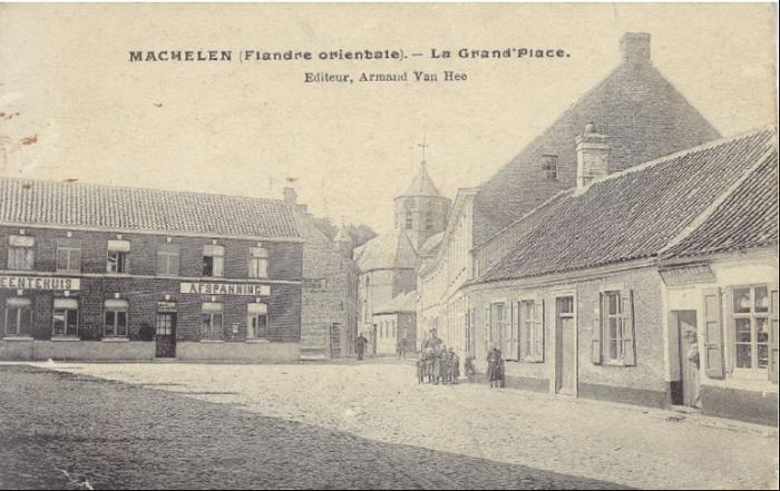 De Machelse 'Grand Place' voor de Eerste Wereldoorlog