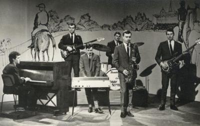 Het Combo Bobby Setter tijdens een tv-opname