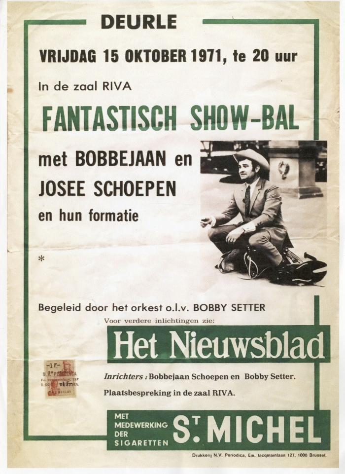 Affiche Fanastisch Show-bal in zaal Riva