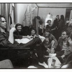 Nick Cave in de backstage van de Brielpoort