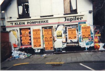 Affiches megafuif Stuntnacht 1998 in Brielpoort Deinze