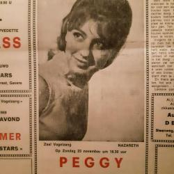 Concertannonce van Peggy en haar eigen orkest