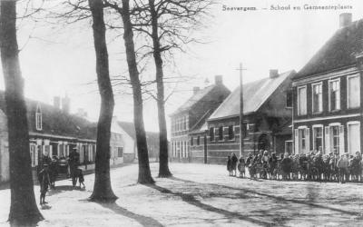 Dorpplaats richting Pont-Zuid, Zevergem