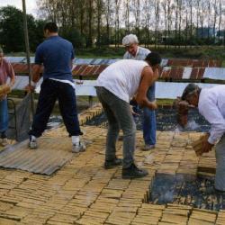 Proces ambachtelijk steenbakken, steenbakkerij Danneels