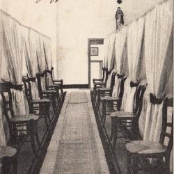 Slaapkamer van het pensionaat in Zulte