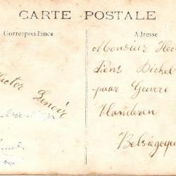 Steenbakkers Achterkant Postkaart van Hector Lenoir aan Hector Piens