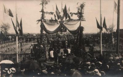 Machelen, inwijding van het Frans Kerkhof 1919