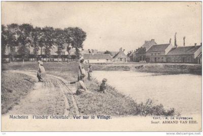 Karperstraat en Kerkplein Machelen, 1906