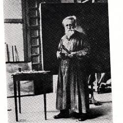 Leon De Smet poseert voor zijn portret