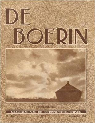 """Tijdschrift """"De Boerin"""" 1947"""