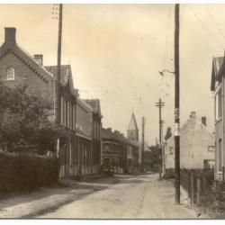Gavere Baaigemstraat met zicht op de kerk 1938