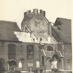Vernielde toren van Sint-Martinuskerk