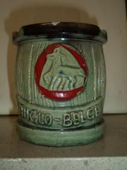 Asbak met logo van brouwerij Anglo-Belge