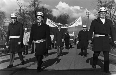 Ludiek protest tegen de fusie van 1977