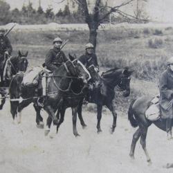 Prosper Vlerick als soldaat te paard