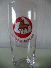 Bierglas met het oude logo van Anglo-Belge
