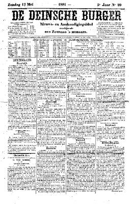 De Deinsche Burger: Zondag 15 mei 1881