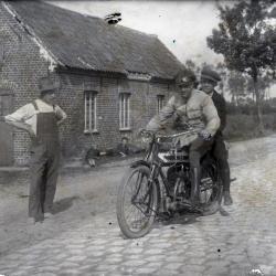 Leon Lampens met zijn leermeester