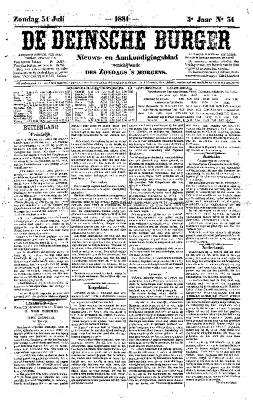 De Deinsche Burger: Zondag 31 juli 1881