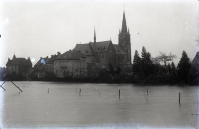 Overstroomde Scheldemeersen in Eke