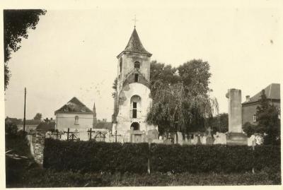 De achterkant van de oude Eekse kerktoren