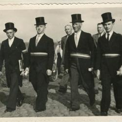Wijkgemeenteraad reuzenstoet Gavere 1950
