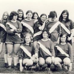 De damesvoetbalploeg van jeugdclub 9731