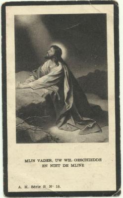 Doodsprentje Zuster Marie Joseph