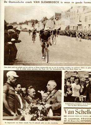 Aankomst van het Baankampioenschap Wielrennen in Deinze