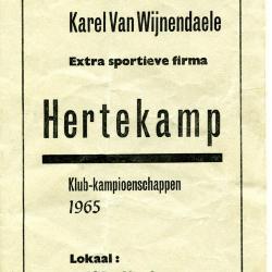 Programmaboekje Veloklub Karel van Wijnendaele