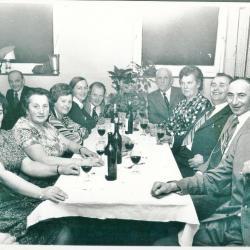 Jaarlijks etentje van de kaartersclub in  café 't Scheers