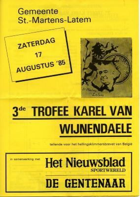 Trofee Karel Van Wijnendaele voor wielertoeristen