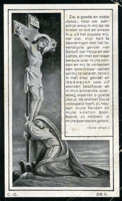 Het bidprentje van Ferdinand Lagrange