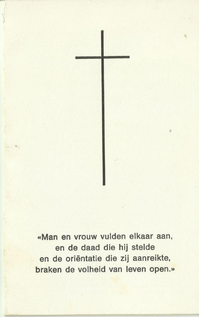 Bidprentje van André de Rouck