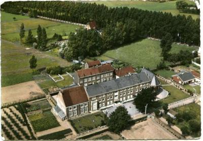 Luchtfoto van het Zults Sint-Vincentiusrusthuis