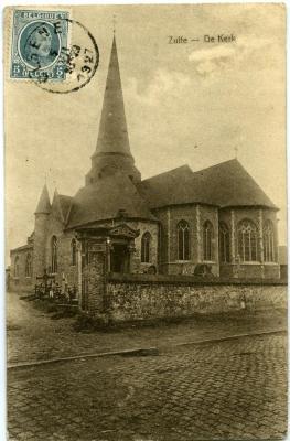 Postkaart van de Zultse parochiekerk