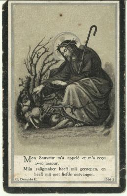 Het doodprentje van Theophiel De Schinckel
