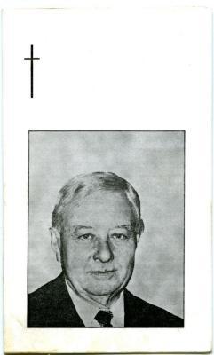 Bidprentje van Zults burgemeester Gijselinck