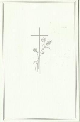 Het bidprentje van de Pintse Zuster Moeder Louise