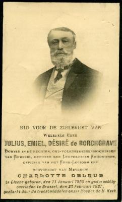 Bidprentje van Jules de Borchgrave