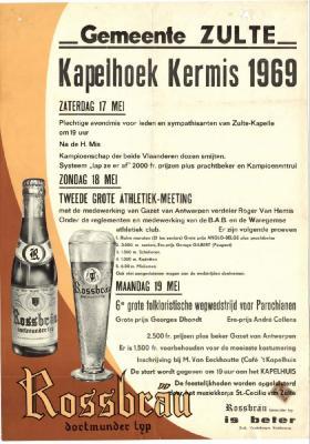 Kermisaffiche Kapelhoek 1969