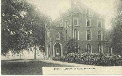 Het kasteel van baron della Faille te Deurle