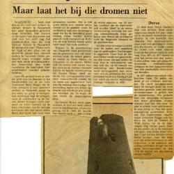 Krantenartikel wijk Stenen Molen