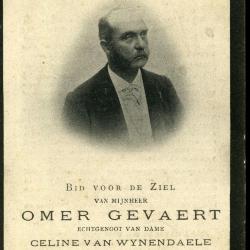 Bidprentje van Omer Gevaert