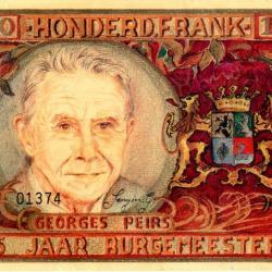 Bankbiljet met beeltenis van burgemeester Georges Peirs